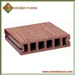 Wooden Grain WPC Decking Floor