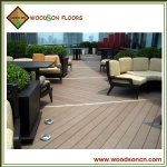 Outdoor Cafe WPC Decking Floors