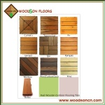 Wooden DIY Floor Decking Tiles